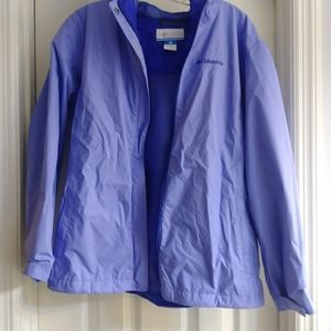 Columbia girls/ladies rain jacket